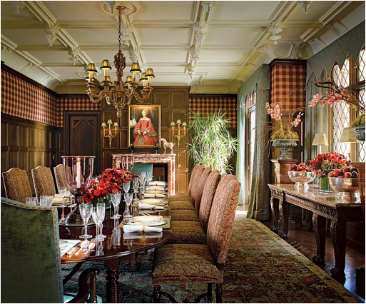 Attractive English Country Dining Room Design Ideas