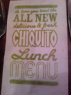 Chiquito New Menu Napkin