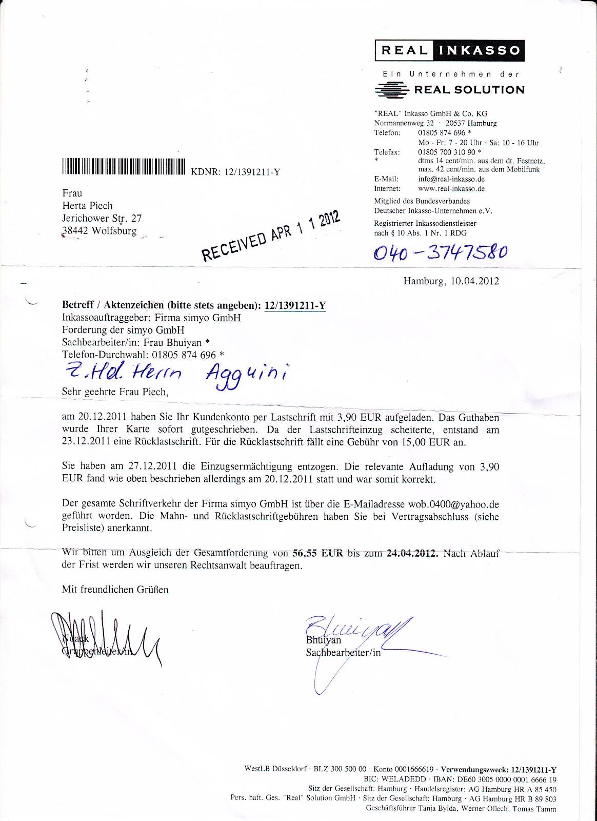 SIMYO-Widerruf-Lastschrift-Illegale-Abbuchung-Inkasso