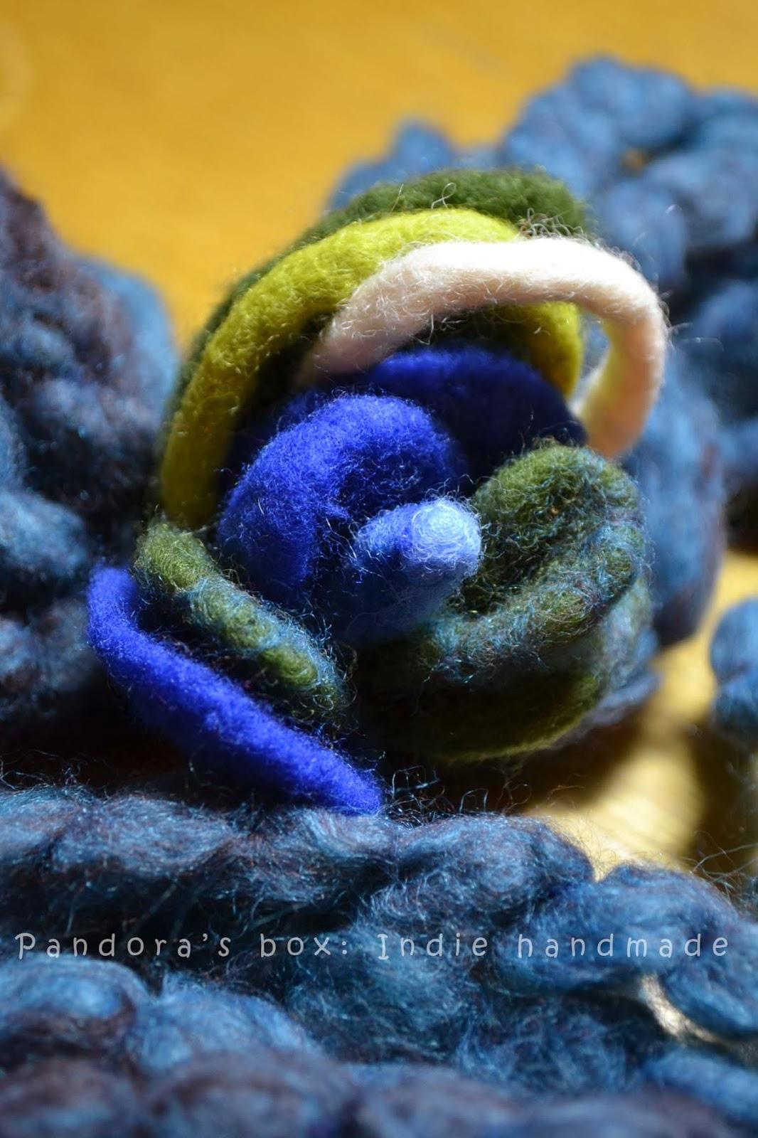 Handmade woolen scarf