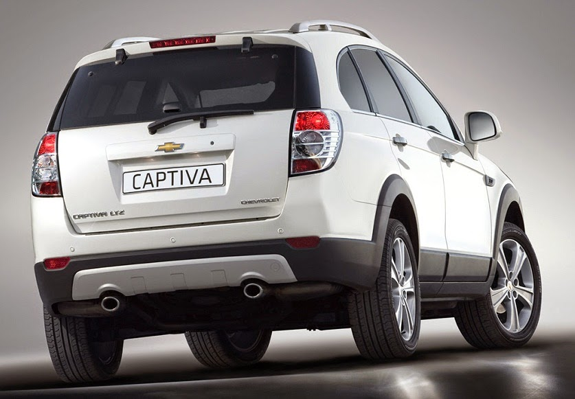 Chevrolet Captiva Facelift belakang