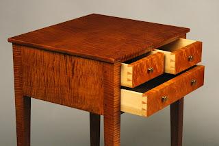 Handmade Nightstand with hand cut dovetail drawer