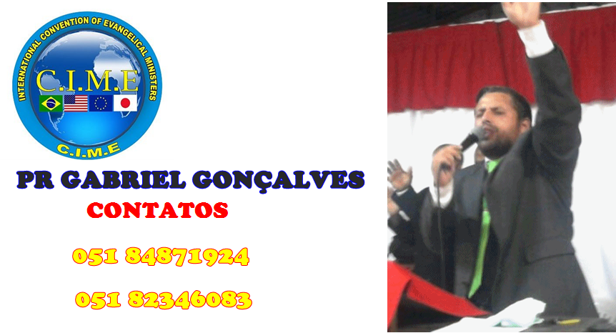 BLOG OFICIAL PASTOR GABRIEL GONÇALVES'