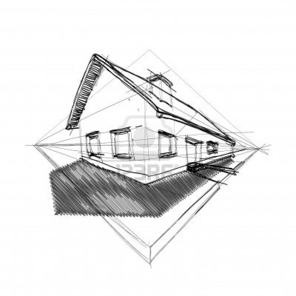 Silvia barzola arte perspectiva angular o con 2 puntos de for Exterior a un punto de fuga