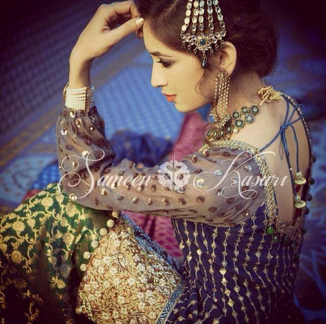 SameenKasuriSemiFormalCollection2014 15 wwwfashionhuntworldblogspotcom 004 - Formal & Semi Formal Wear Dresses By Smeen Kasuri