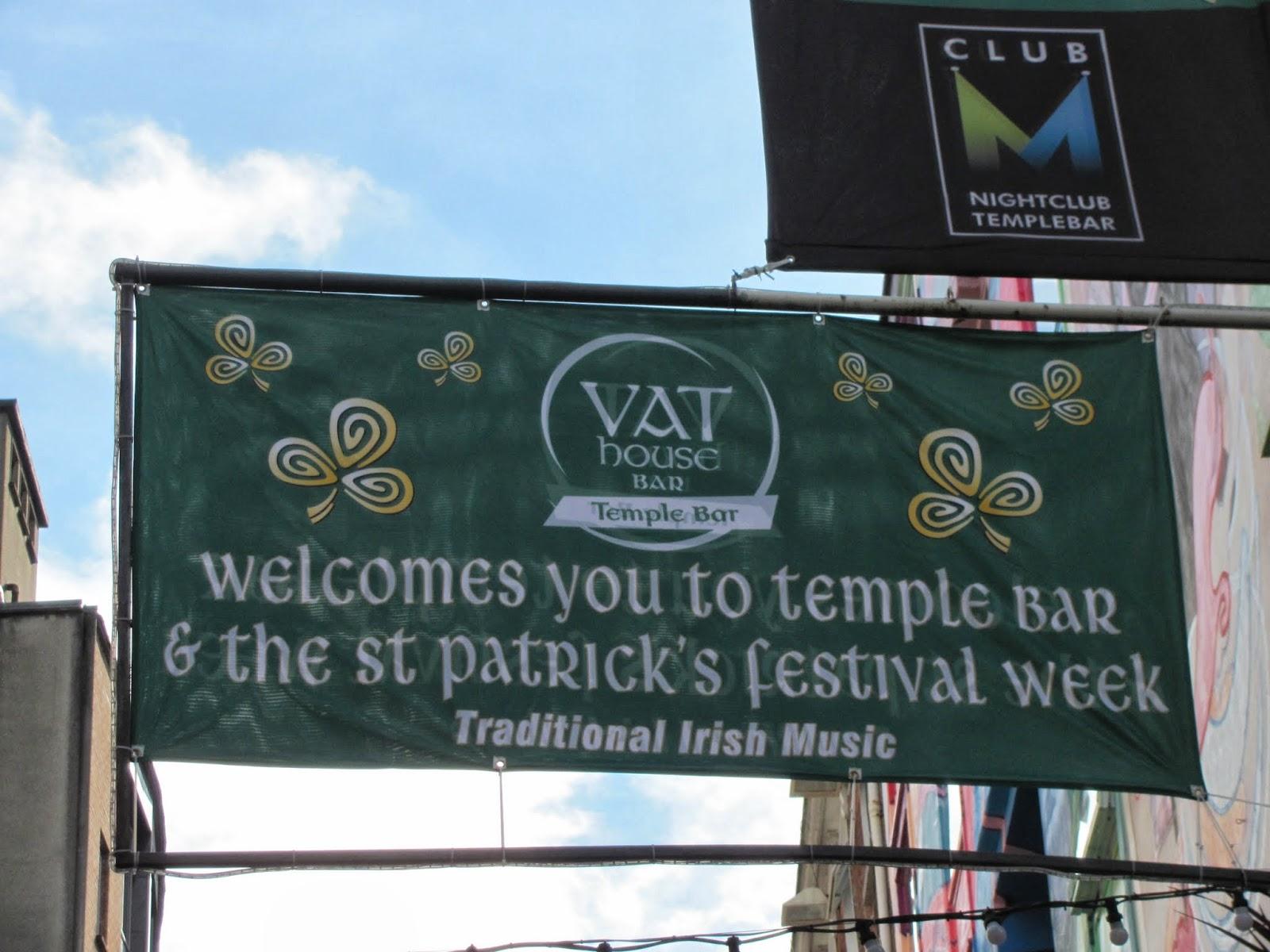 VAT House St. Patrick's Day Sign Dublin