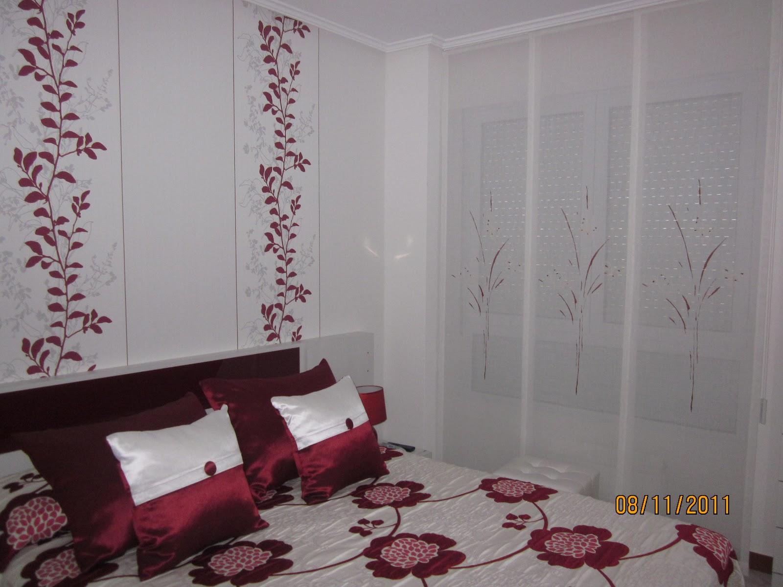 Decorar con cortinas y mucho m s habitaci n espectacular - Papel pintado cabecero ...