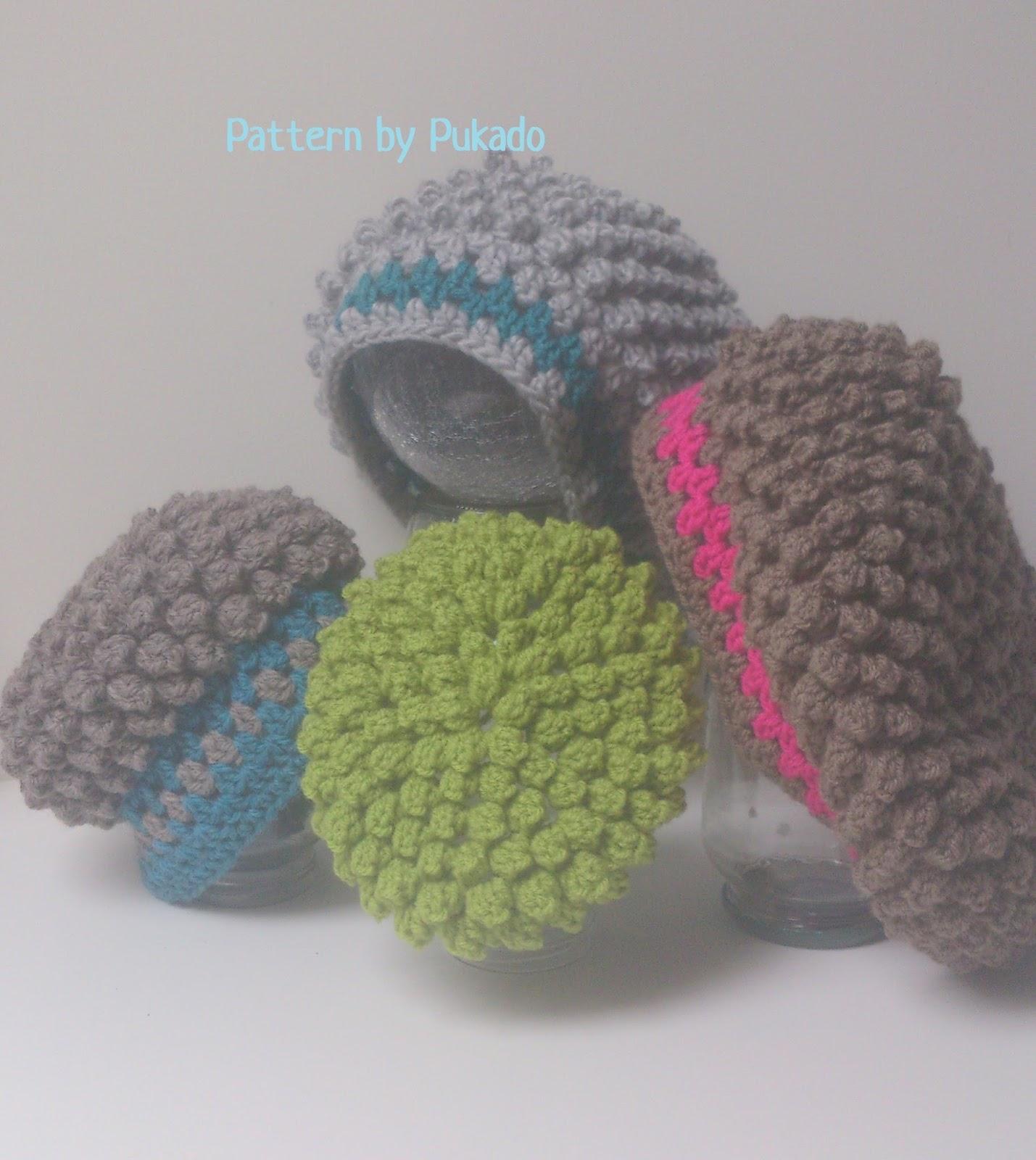 e9ba2f66085 Pukado By Patricia Stuart  Popcorn Stitch Slouch Hat... finished!