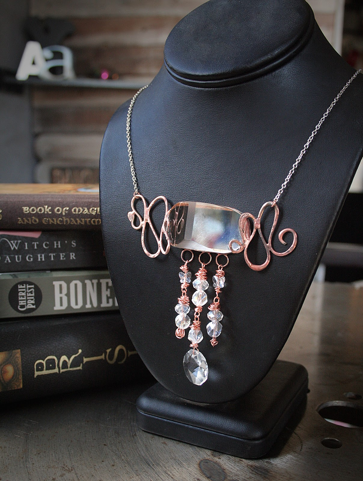 Refinerii studios new soldered copper crystal jewelry for How to solder copper jewelry