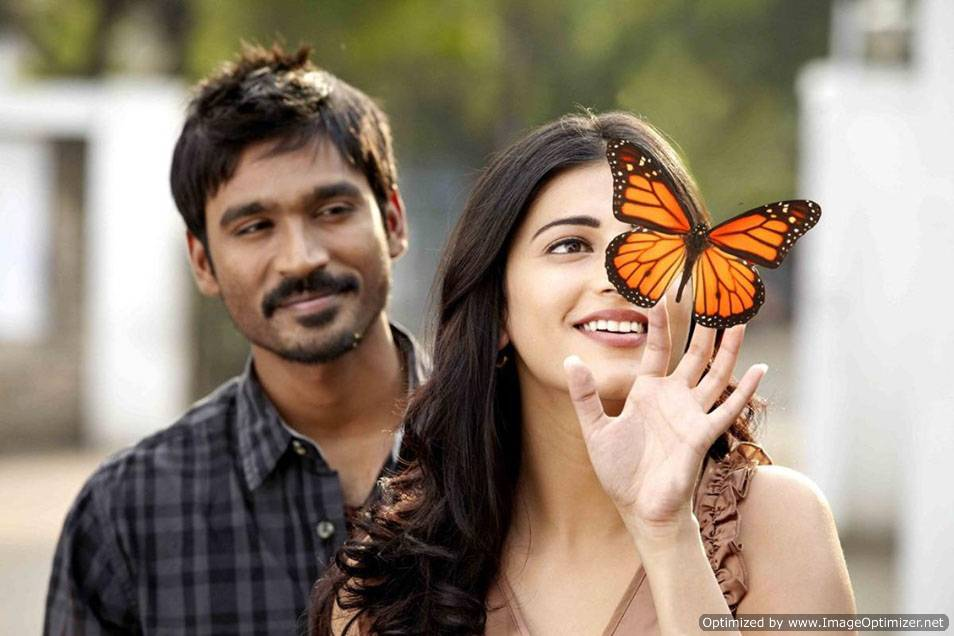 All Hq Wallpapers 3 Movie Stills Danush And Shruthi Hasan