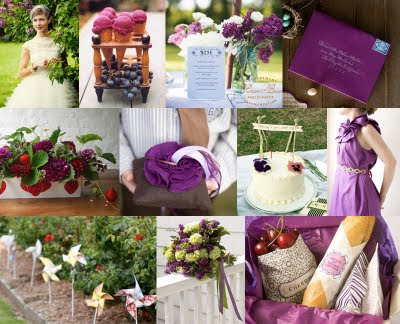 Red and purple would make a great colour scheme for a winter wedding