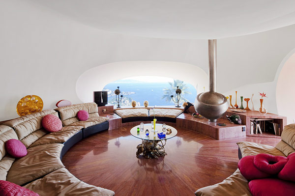 futuristic version of a conversation pit photographed by martin