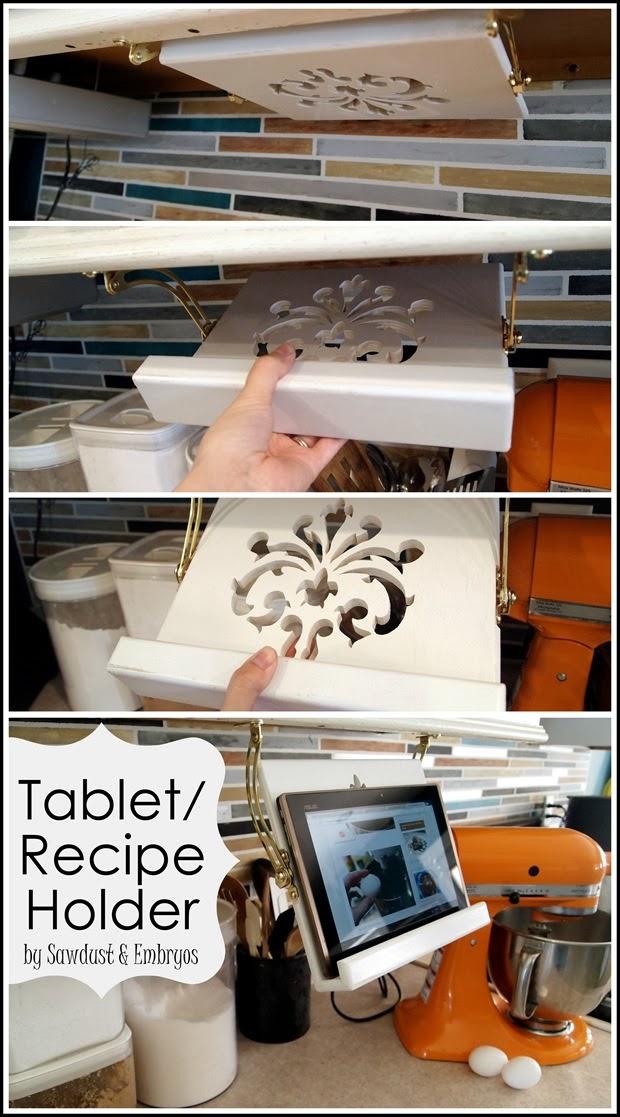 DIY Tablet/Recipe Book Holder