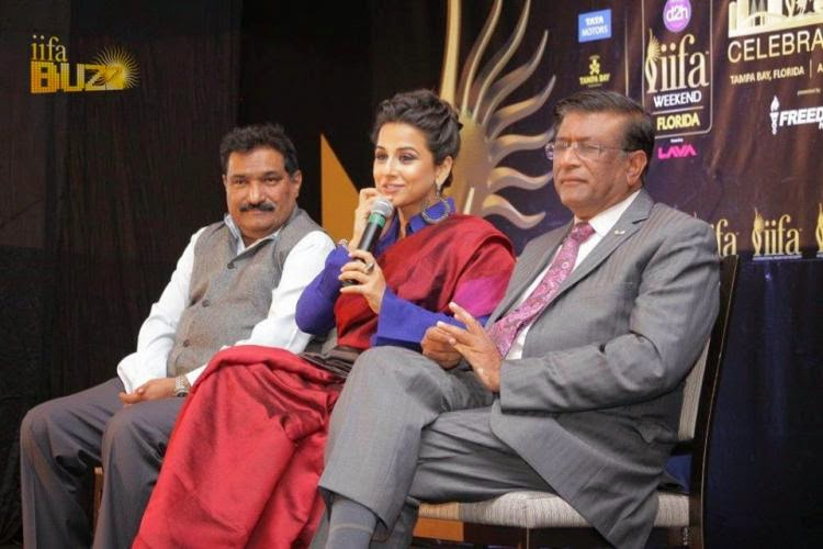 Vidya Balan promotes IIFA in Houston press conference