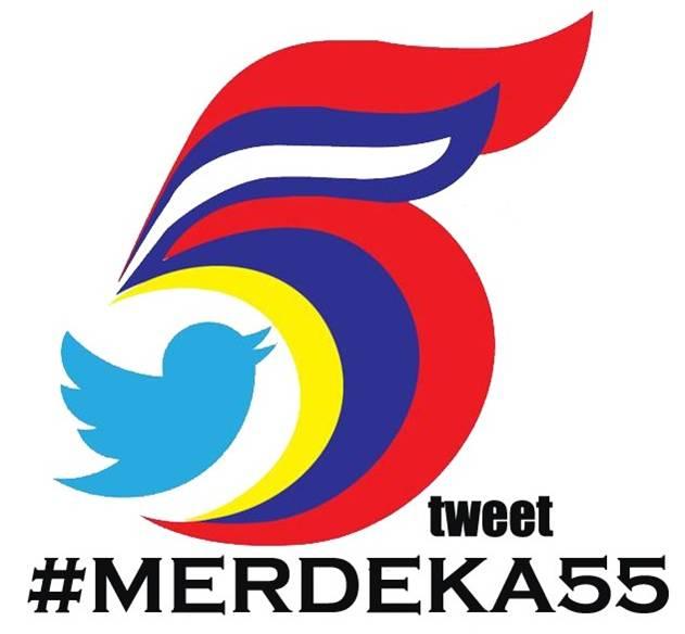 Logo tweet #merdeka55