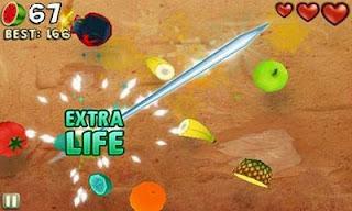 Screenshots of the Fruit Ninja Puss in Boots for Android tablet, phone.