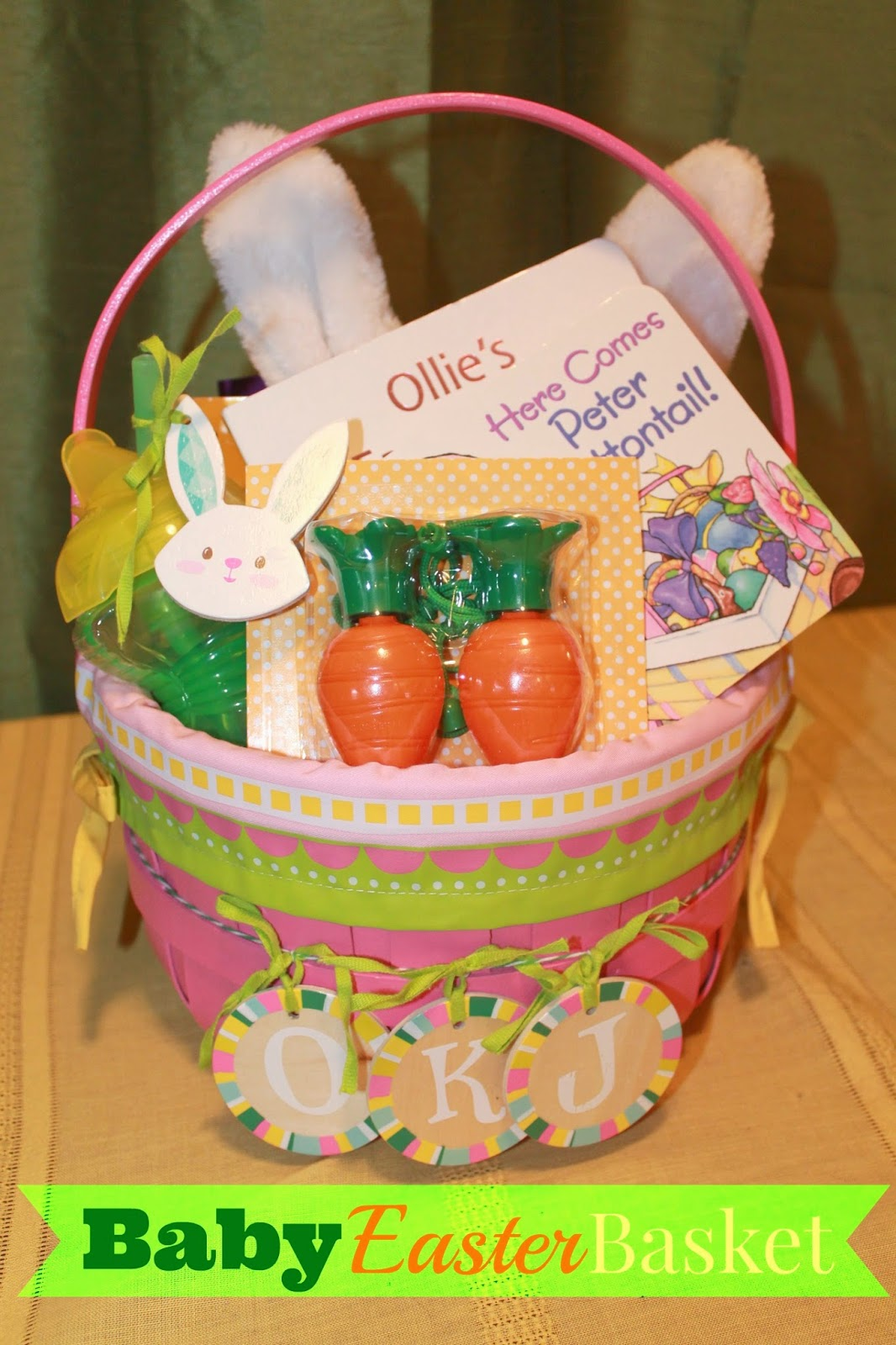 Polka dotty place baby easter basket baby easter basket negle Images