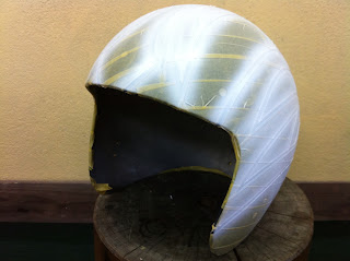 570802420 - カスタムペイント工程  ジェットヘルメット スカル クリアースピニング