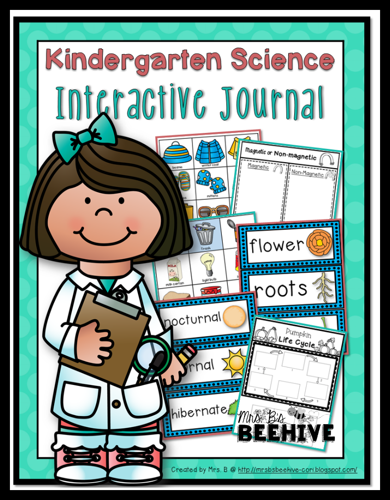 http://www.teacherspayteachers.com/Product/Kindergarten-Science-Interactive-Journal-1564582