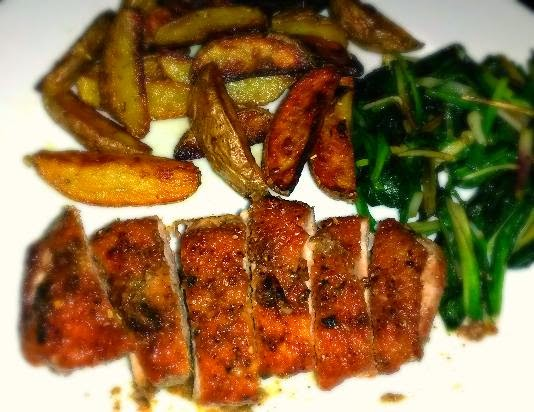 "The Delightful Seared Rosemary Duck Breast with Duck Fat ""Fries"""