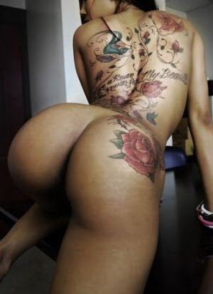 Rose Tattooed Ass