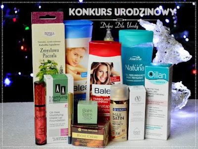 Zestaw kosmetyków do wygrania - konkurs urodzinowy