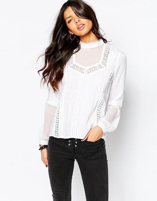 white victorian blouse, frill white cotton top,
