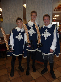 "The Three Musketeers at ""Date Knight"" at Chick Fil A"