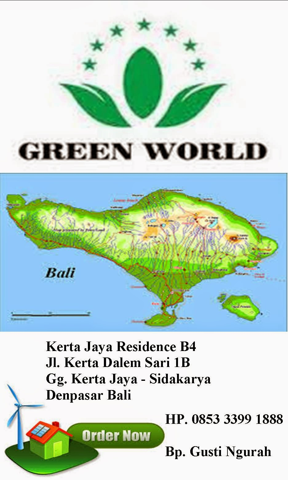 stokist green world bali