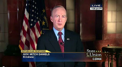 Republican Response Mitch Daniels State of the Union Address (SOTU)  FULL VIDEO TEXT TRANSCRIPT