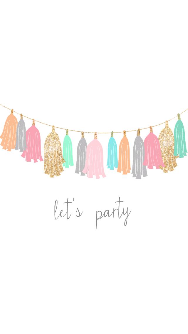 "freebie: ""let's party"" wallpaper set"