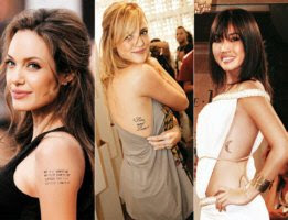 dicas de Tatuagens de Famosos gringos