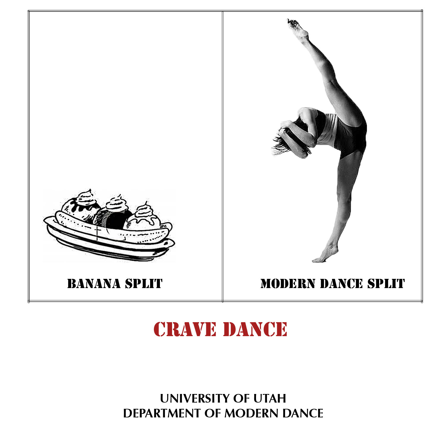 Shirt design utah - Another T Shirt Design Option For The Dept Of Modern Dance Photo Of Dancer By Cprowe