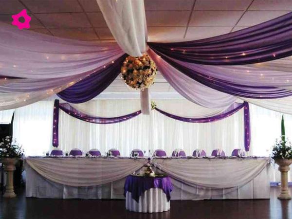 Decoracion de bodas con telas parte 1 - Telas para techos ...