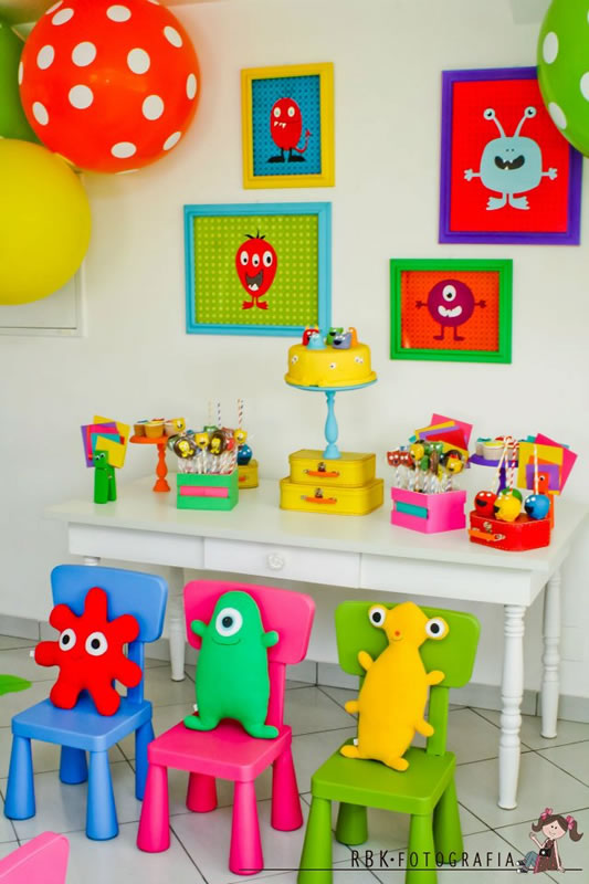 Fiesta tem tica de monstruos monsters fiestas - Decoracion fiestas bebes ...