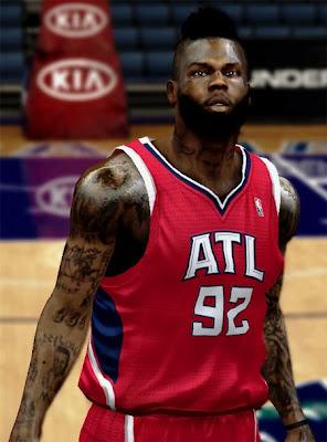 NBA 2K13 DeShawn Stevenson Cyberface Hair Patch
