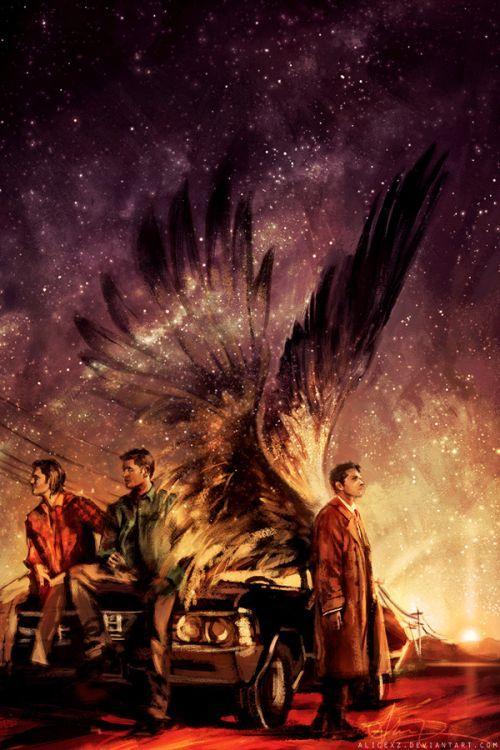 Alice X. Zhang alicexz deviantart pinturas de filmes séries Carry on my wayward son - Nome da música clássica da série Supernatural