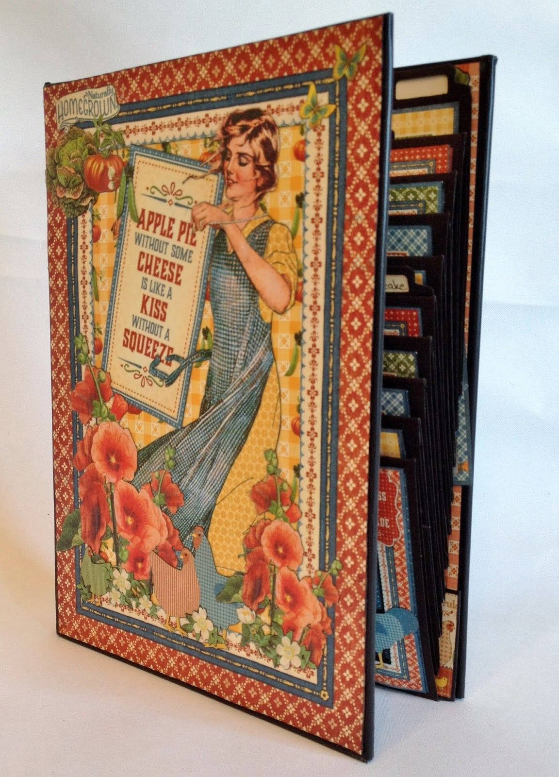 How to make scrapbook album cover - Used 3 Layers Of Multi Medium Matte To Glue Down The Images On The Cover So It Can Be Used In A Kitchen Without Getting Dirty