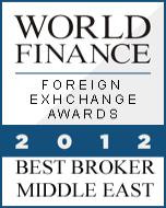 anugerah exness, exness award Best Forex Broker Middle East 2012 World Finance