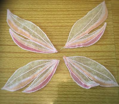 cloth art doll wings