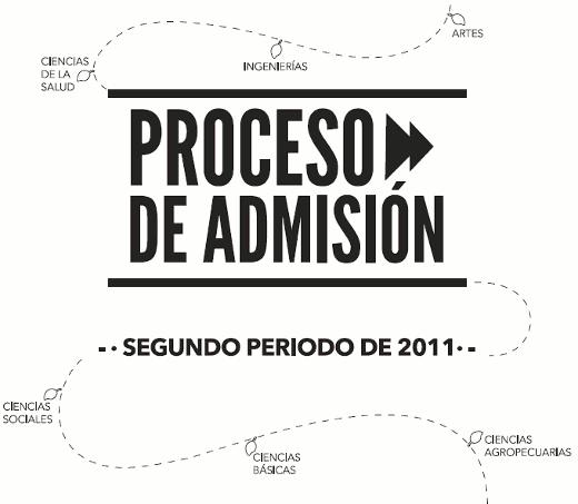Examen de admisión segundo semestre de 2011