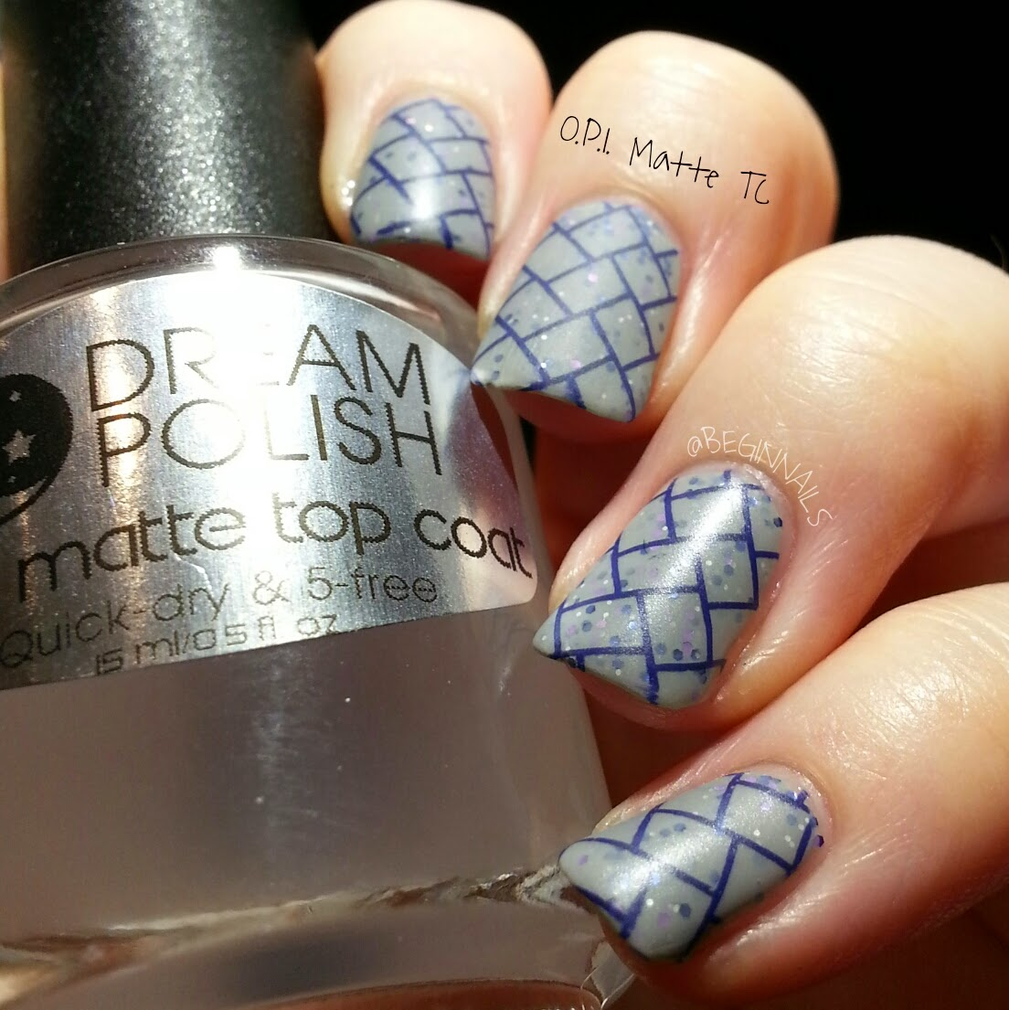 Let\'s Begin Nails: Dream Polish Ultra Matte Top Coat Swatch and Review