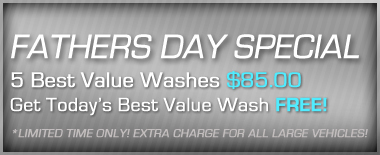 Fathers Day Car Wash Special Coupon