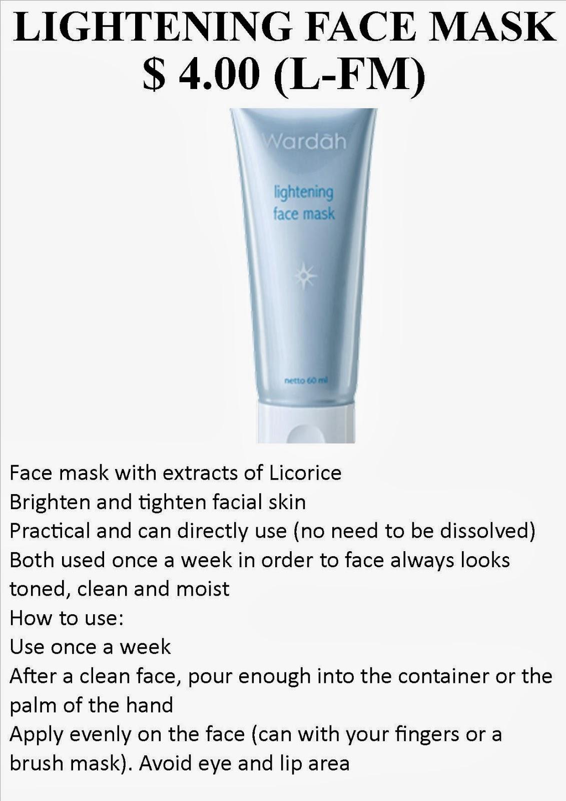 Ana Stovia Google Wardah Lightening Face Mask