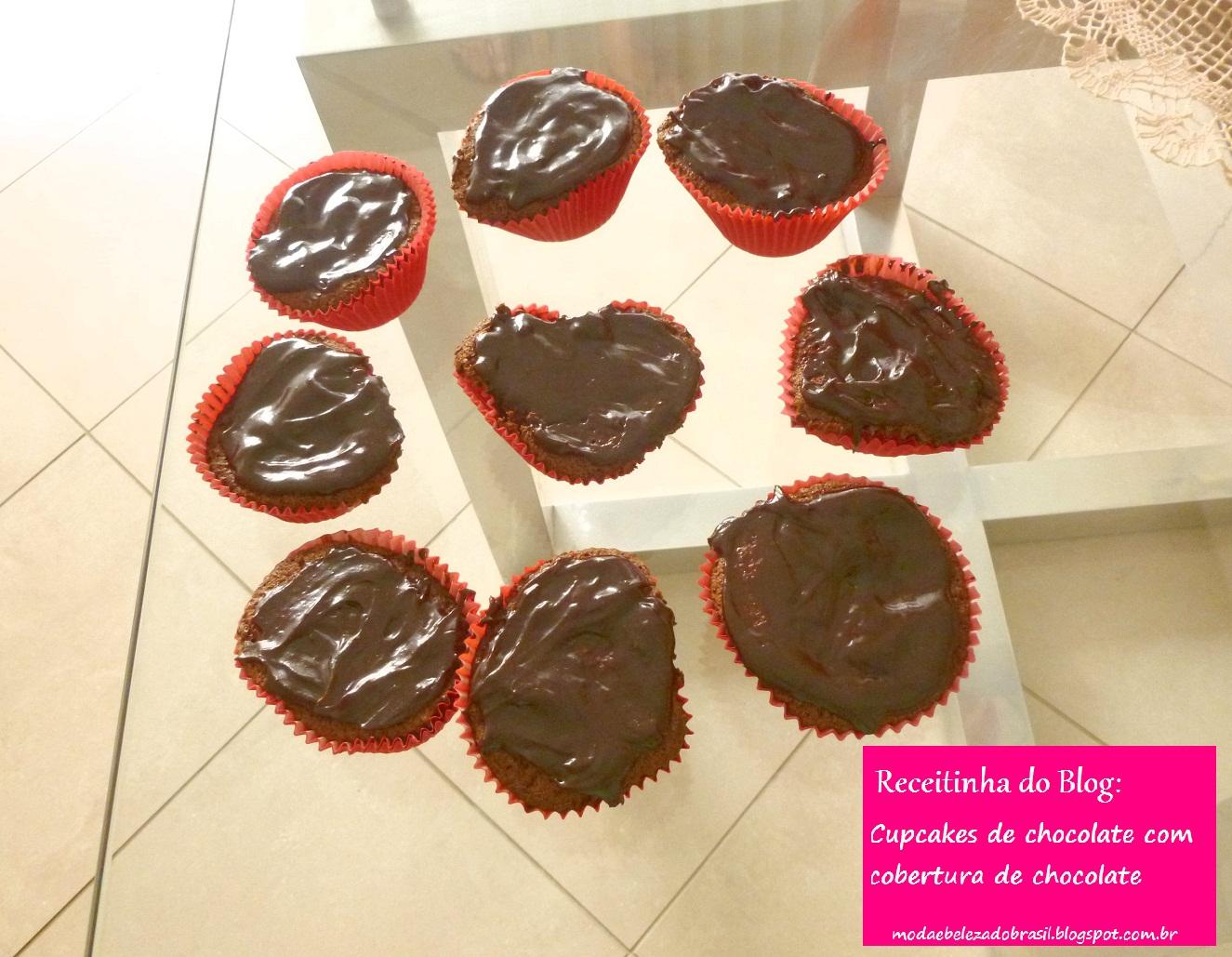 cupackes de chocolate cobertura de chocolate