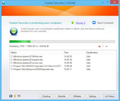 تحميل برنامج Crystal Security مجانا لازالة ملفات التجسس من الكمبيوتر