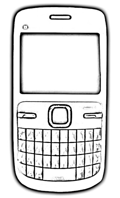 sketch of mobile phone