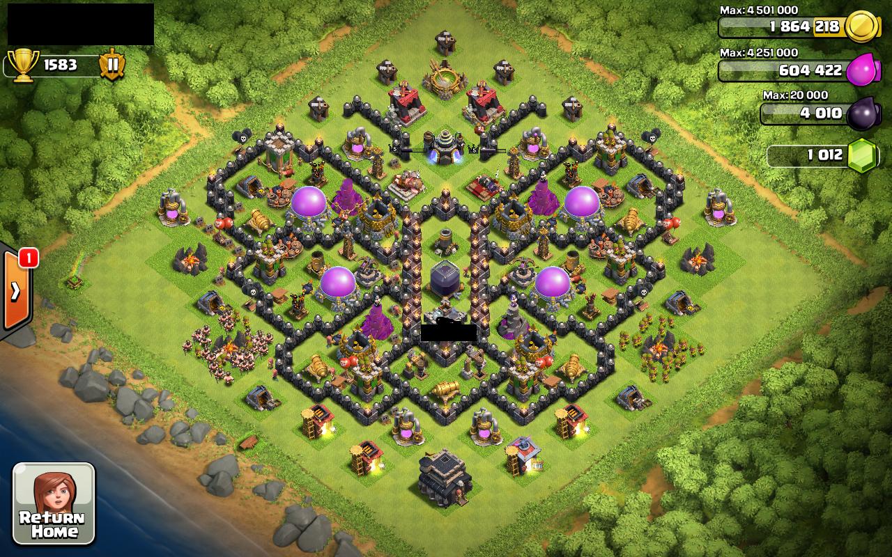 Coc base 99 th 9 farming base 1