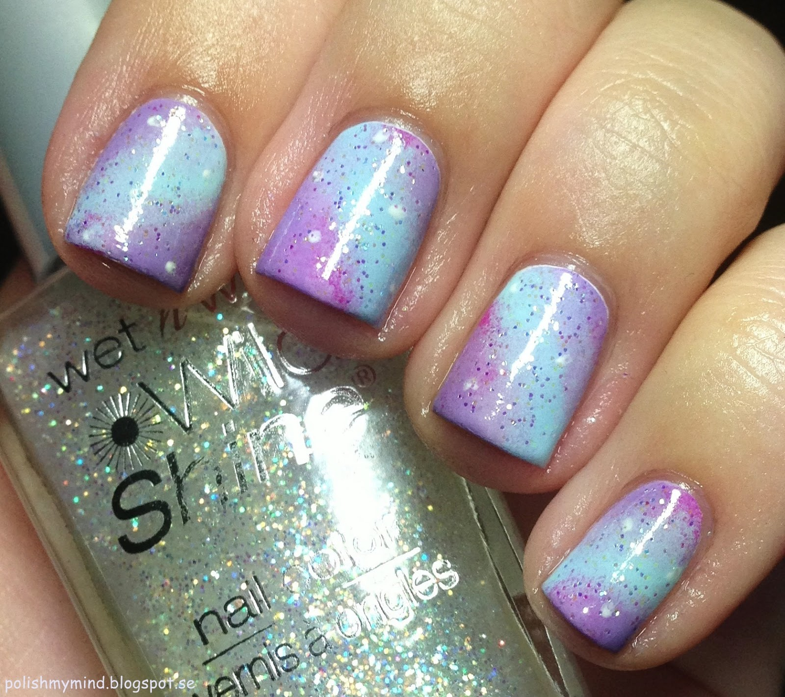 polish my mind: Pastel galaxy nails.