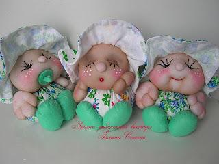 Скульптурно-текстильная кукла   пупсы